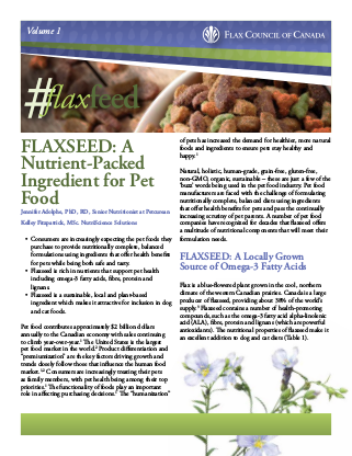 Pet Food | Flax Council Of Canada